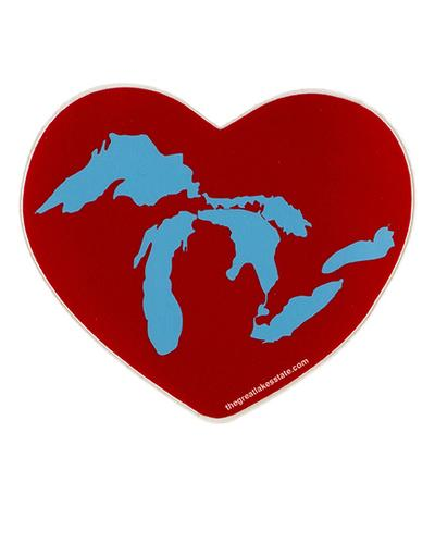 Great Lakes Heart Sticker